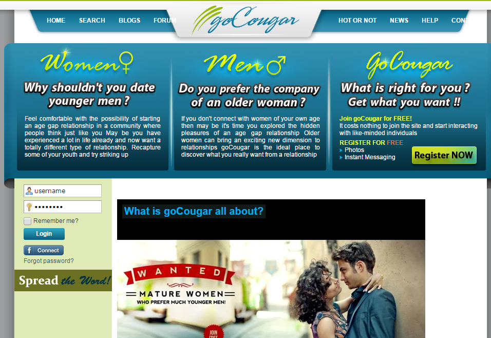foreman cougars dating site The cougar is an american reality television series where an older woman (aka  cougar)  51 meet the cougar 52 40 years young 53 men vs boys 54 truth  and consequences 55 the claws come out  kai, 28, supervisor, episode 3.